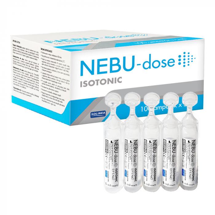 Ser fiziologic izotonic Solinea NEBU-dose concentratie 0.9%, 100 monodoze x 5 ml [2]