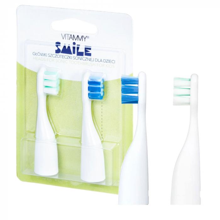Set 2 rezerve periuta de dinti VITAMMY Smile, Verde-Albastru [3]