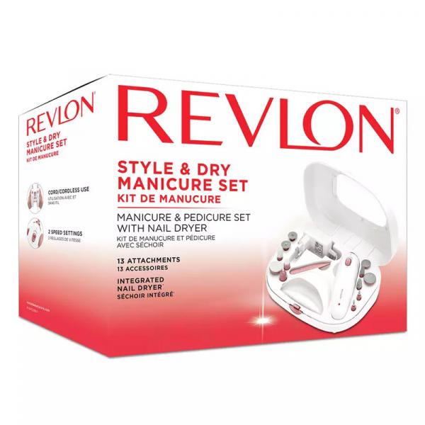 Set manichiura-pedichiura freza electrica REVLON Style & Dry RVSP3529 1