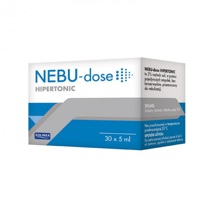 Solutie salina hipertonica Solinea NEBU-dose concentratie 3%, 30 monodoze x 5 ml [1]