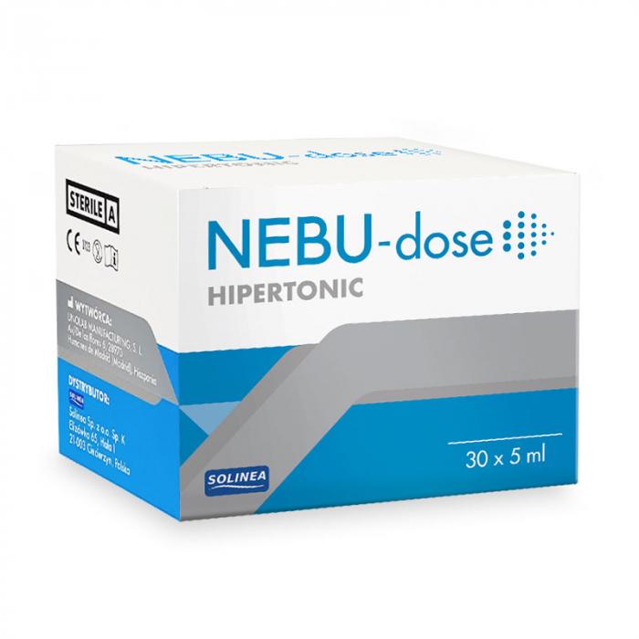 Solutie salina hipertonica Solinea NEBU-dose concentratie 3%, 30 monodoze x 5 ml [4]