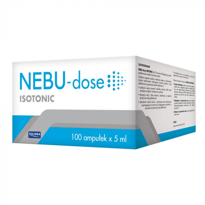 Ser fiziologic izotonic Solinea NEBU-dose concentratie 0.9%, 100 monodoze x 5 ml [1]
