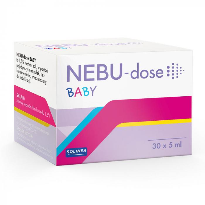 Solutie salina Solinea NEBU-dose Baby concentratie 1.5 %, 30 monodoze x 5 ml [4]