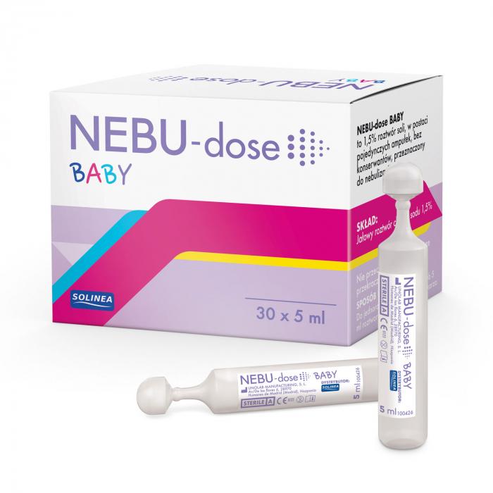 Solutie salina Solinea NEBU-dose Baby concentratie 1.5 %, 30 monodoze x 5 ml [0]