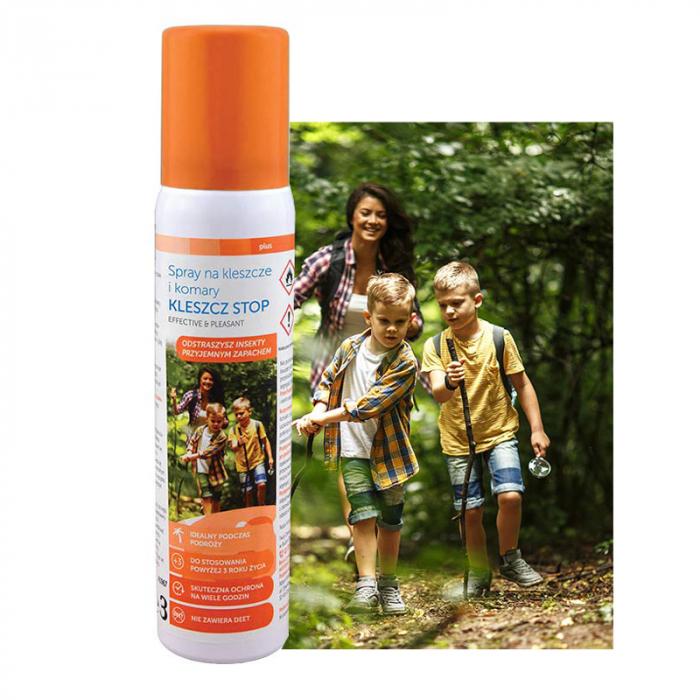 Spray impotriva tantarilor si capuselor Sanity Stop, pentru copii de la 3 ani, 100 ml [3]
