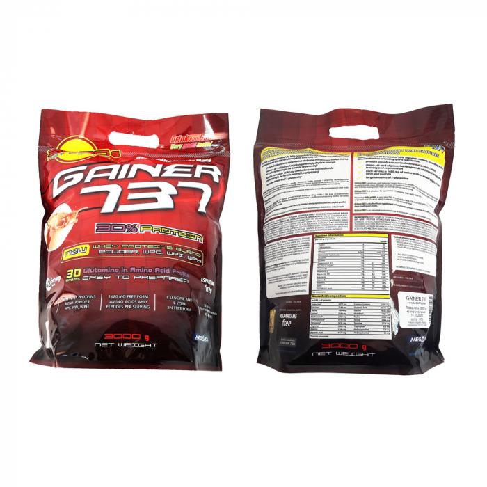 Supliment de proteine Megabol Gainer 737, 3 kg, gainer puternic si complex pentru cresterea masei musculare [3]