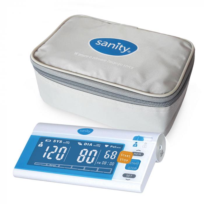 Tensiometru de brat Sanity Senior, 120 seturi de memorie, tehnologie FDS, produs validat clinic [4]
