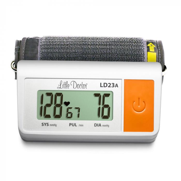 Tensiometru electronic de brat Little Doctor LD 23A, alimentator inclus, Afisaj LCD, Algoritm Fuzzy, Un singur buton de operare, Validat BHS, Alb 4