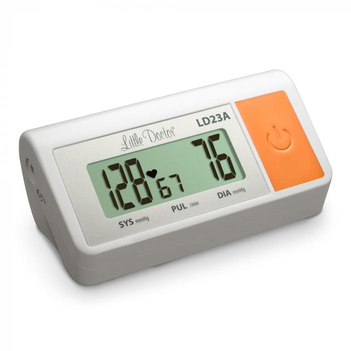 Tensiometru electronic de brat Little Doctor LD 23A, alimentator inclus, Afisaj LCD, Algoritm Fuzzy, Un singur buton de operare, Validat BHS, Alb 3