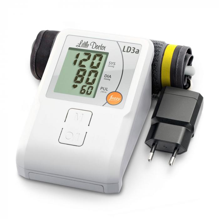 Tensiometru electronic de brat Little Doctor LD 3A, adaptor inclus, afisaj LCD, memorare 90 de valori, alb 4