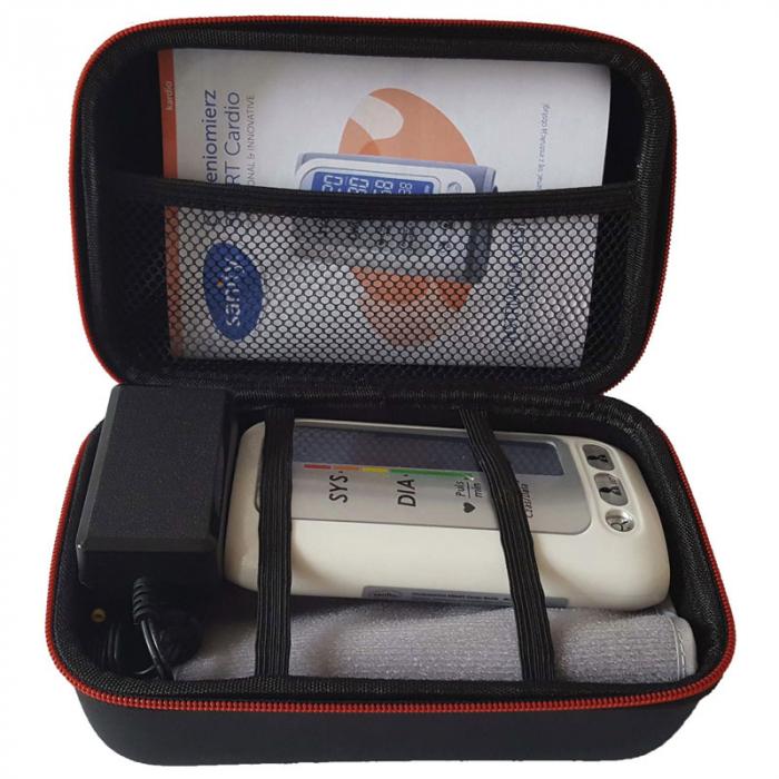 Tensiometru electronic de brat Sanity Smart Cardio, 120 memorii, Display LCD, sistolic - diastolic, Alb [3]