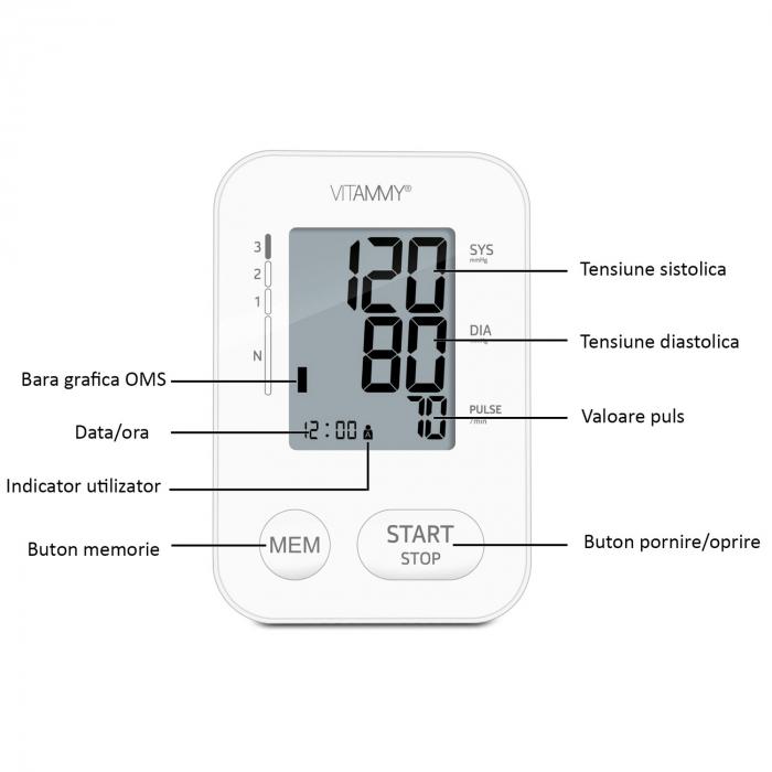 Tensiometru electronic de brat VITAMMY Next 2 [4]