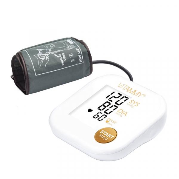 Tensiometru electronic de brat VITAMMY Ultra Beat, manseta 22-42 cm, Alb/Auriu 0