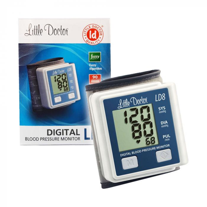 Tensiometru electronic de incheietura Little Doctor LD 8, Afisaj LCD, Memorare 90 de valori, Algoritm Fuzzy, Cutie de depozitare [4]