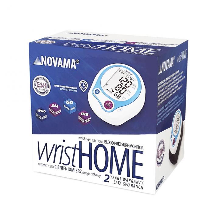 Tensiometru electronic de incheietura Novama Wrist Home, detectare aritmie, medie 3 masuratori, cutie de transport 6