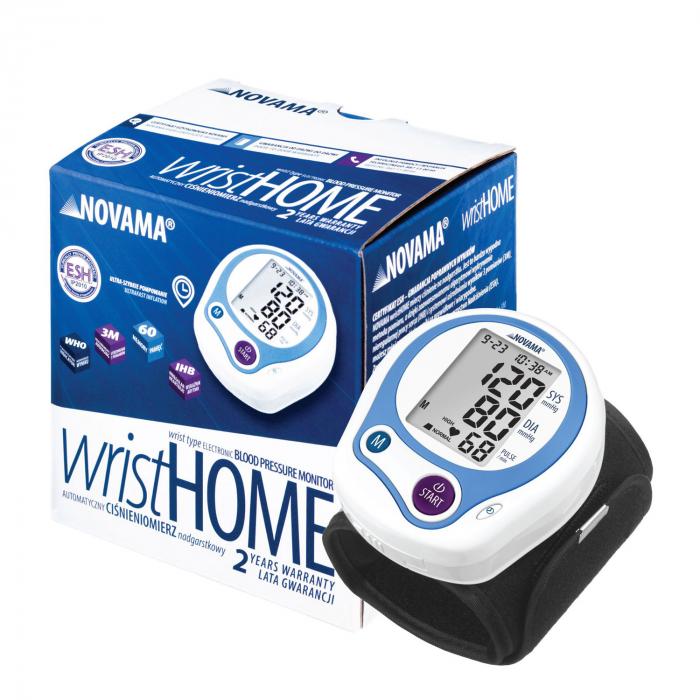 Tensiometru electronic de incheietura Novama Wrist Home, detectare aritmie, medie 3 masuratori, cutie de transport 2