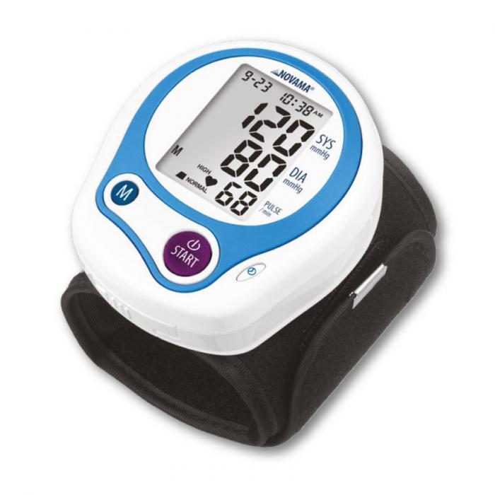 Tensiometru electronic de incheietura Novama Wrist Home, detectare aritmie, medie 3 masuratori, cutie de transport 0