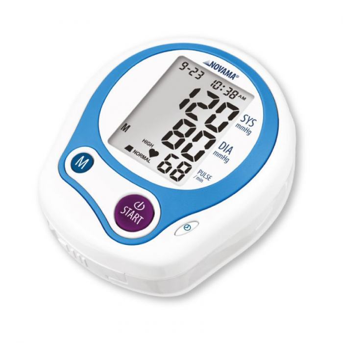 Tensiometru electronic de incheietura Novama Wrist Home, detectare aritmie, medie 3 masuratori, cutie de transport 5