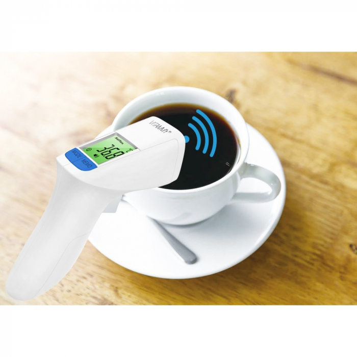 Termometru non-contact Vitammy Flash HTD8816C, tehnologie infrarosu, pentru frunte 3