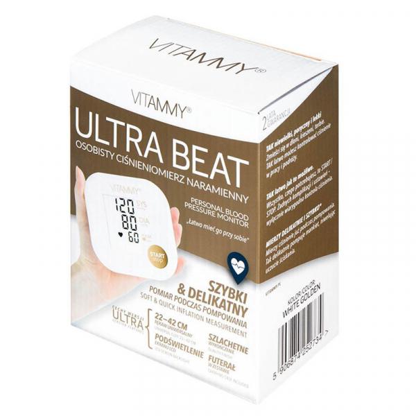 Tensiometru electronic de brat VITAMMY Ultra Beat, manseta 22-42 cm, Alb/Auriu 3