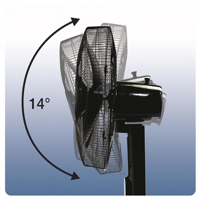 Ventilator cu picior Honeywell Quiet Set HSF600BE4, 5 viteze, timer, zgomot redus, Negru 3
