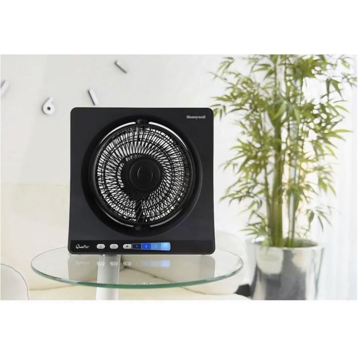 Ventilator de birou Honeywell HT354E, 4 viteze, 33 cm, zgomot redus, Negru 3