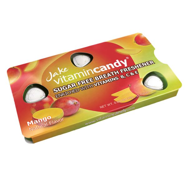 Drajeuri fara zahar VitaminCandy multivitamine cu gust de mango, 18 g 1