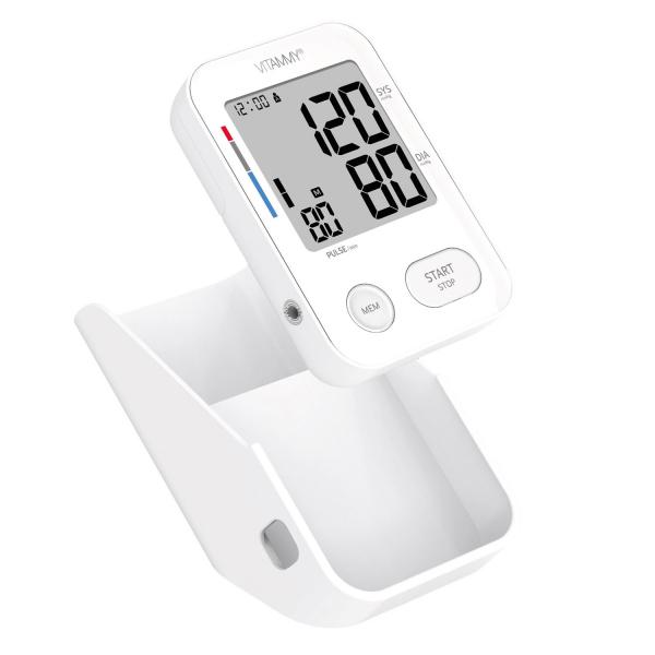 Tensiometru electronic de brat VITAMMY Next 3, mufa USB, detectie miscarea corpului, memorare 2 utilizatori, manseta 22-40 cm, Alb 2