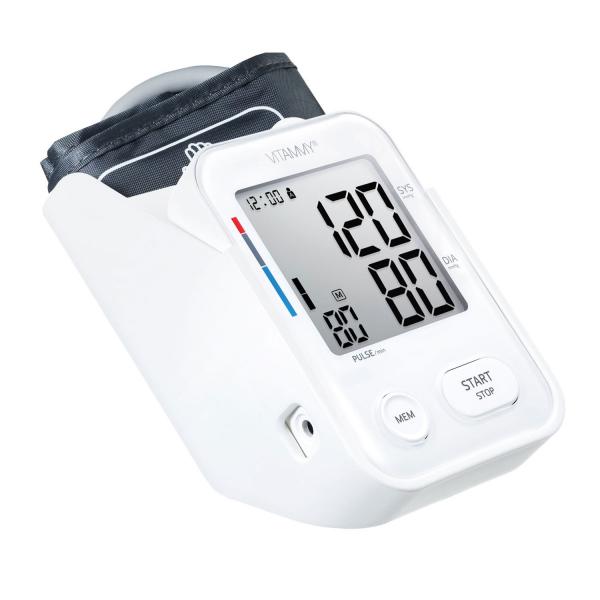 Tensiometru electronic de brat VITAMMY Next 3, mufa USB, detectie miscarea corpului, memorare 2 utilizatori, manseta 22-40 cm, Alb 0