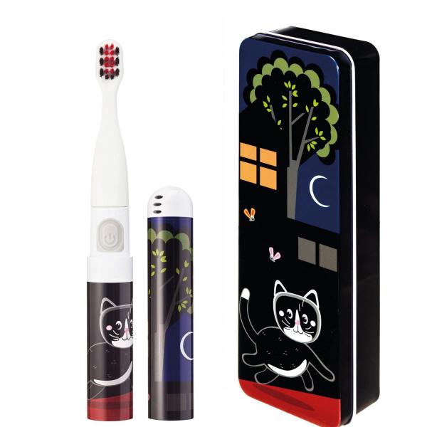 Periuta de dinti electrica VITAMMY Smile, pentru copii 3 +, cutie travel, Animatie Pisoi, Negru, TB8041CK 0