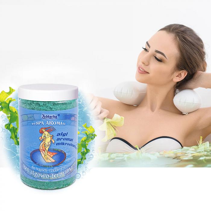Sare termala cu alge Zablocka pentru baie si peeling, 400 g [5]