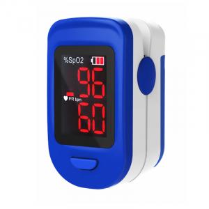 Pulsoximetru RedLine FS10C, alb-albastru, indica nivelul de saturatie a oxigenului, masoara rata pulsului0