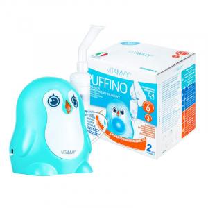 Aparat aerosoli VITAMMY Puffino, masca copii si adulti, 2 dimensiuni de particule, nebulizator cu compresor0