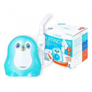 Aparat aerosoli VITAMMY Puffino, masca copii si adulti, 2 dimensiuni de particule, nebulizator cu compresor2