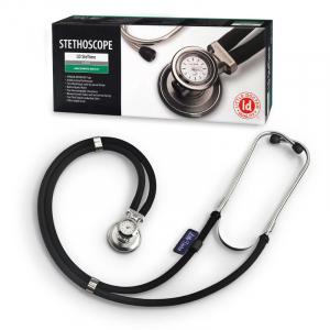 Stetoscop Little Doctor LD SteTime cu ceas, 2 tuburi, lungime tub 56cm, Negru/Inox [0]
