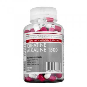 Creatina Megabol CREATINE ALKALINE 1500, 120 capsule, creatina monohidrat cu Ph ridicat, nu este necesara faza de incarcare0