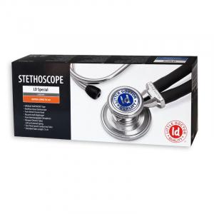 Stetoscop Little Doctor LD Special, 2 tuburi, lungime tub 72cm, Negru/Inox2