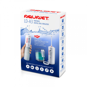 Irigator bucal Little Doctor Aquajet LD A3 pentru adulti, profesional, 1500 impulsuri/min, 2 duze, alb3