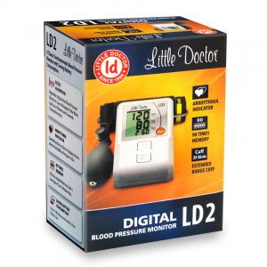 Tensiometru de brat Little Doctor LD2, semiautomat, afisaj LCD, memorare 90 de valori, alb4