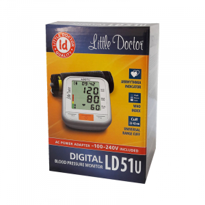 Tensiometru electronic de brat Little Doctor LD 51U, manseta 22 - 42 cm, indicator WHO, adaptor priza inclus, Alb/Gri2