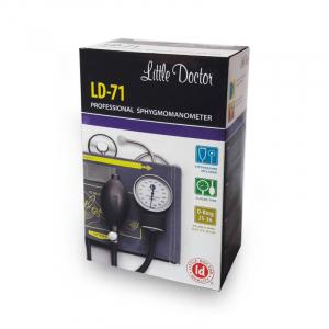 Tensiometru mecanic Little Doctor LD 71 profesional, stetoscop inclus, manometru din metal, husa de transport3