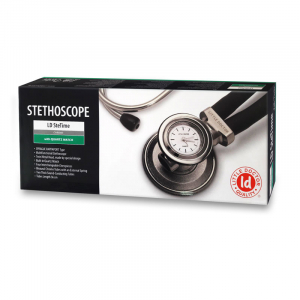 Stetoscop Little Doctor LD SteTime cu ceas, 2 tuburi, lungime tub 56cm, Negru/Inox3
