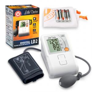 Tensiometru de brat Little Doctor LD2, semiautomat, afisaj LCD, memorare 90 de valori, alb2