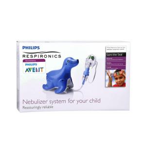 Aparat aerosoli cu compresor Philips Respironics Sami the Seal, MMAD 2.80μm, Design preferat de copii, Sistem Active Venturi, Profesional5