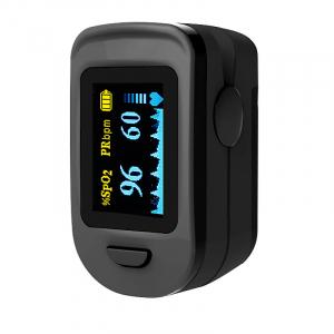 Pulsoximetru RedLine FS20C, negru,  indica nivelul de saturatie a oxigenului, masoara rata pulsului0