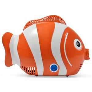 Aparat de aerosoli cu compresor RedLine Healthy Fish, MMAD 2.44 µm, forma jucausa apreciata de copii1