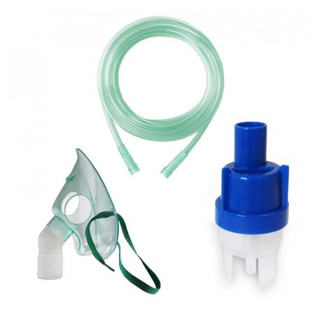 Kit accesorii universale pentru aparatele de nebulizare cu compresor RedLine RDA007, masca medie rotativa, furtun 2m si kit de nebulizare [0]