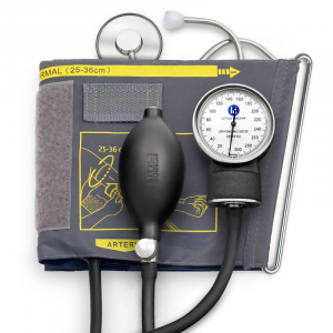 Tensiometru mecanic Little Doctor LD 71A, profesional, stetoscop atasat, manometru din metal0