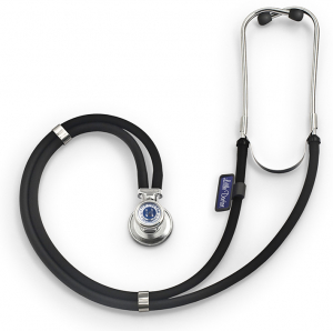 Stetoscop Little Doctor LD Special, 2 tuburi, lungime tub 72cm, Negru/Inox0