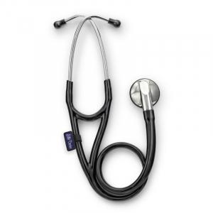Stetoscop Little Doctor LD Cardio, profesional, 3 seturi de olive auriculare, o diafragma de schimb, placuta de identificare, Negru/inox0